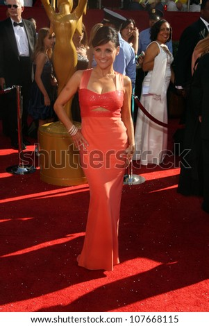 5267614bff6c7 Julia Louis-Dreyfus at the 60th Annual Primetime Emmy Awards Red Carpet.  Nokia Theater
