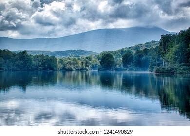 Julian Price Lake, along the Blue Ridge Parkway in North Carolina
