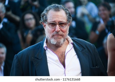Julian Schnabel walks the red carpet ahead of the Award Ceremony during the 75th Venice Film Festival at Sala Grande on September 8, 2018 in Venice, Italy.