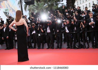 Julianne Moore attends the screening of 'Yomeddine' during the 71st annual Cannes Film Festival at Palais des Festivals on May 9, 2018 in Cannes, France.