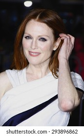 "Julianne Moore at the Los Angeles premiere of ""Non-Stop"" held at the Regency Village Theatre in Los Angeles on February 24, 2014 in Los Angeles, California."