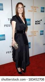 Julianne Moore, wearing an Yves Saint Laurent dress, at SAVAGE GRACE Premiere at NY Tribeca Film Festival, BMCC/TRAC Theatre, New York, NY, April 26, 2008