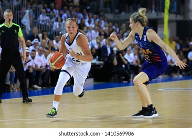 Julie Allemand of Lyon and Samantha Whitcomb of Montpellier during Women's French championship Final game 5 basketball Lyon ASVEL vs Montpellier on 5, 23, 2019 Mado Bonnet Hall Lyon France
