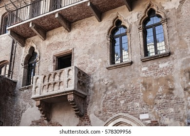 "Juliet's Balcony at the ""House of Juliet"", Verona - Italy"