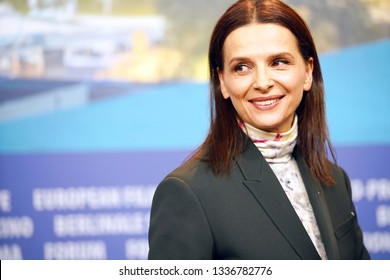 Juliette Binoche attends the International Jury press conference during the 69th Berlinale International Film Festival Berlin at Grand Hyatt Hotel on February 07, 2019 in Berlin, Germany.