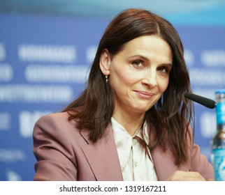 Juliette Binoche attends the 'Who You Think I Am' (Celle aue vous croyez) press conference during the 69th Berlinale Festival Berlin at Grand Hyatt Hotel on February 10, 2019 in Berlin, Germany