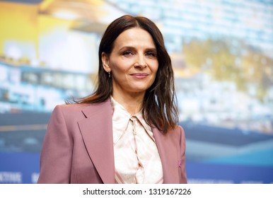 Juliette Binoche attends the 'Who You Think I Am' press conference during the 69th Berlinale Festival Berlin at  Grand Hyatt Hotel on February 10, 2019 in Berlin, Germany.