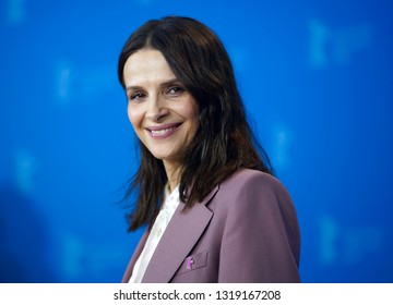 Juliette Binoche poses at the 'Who You Think I Am' (Celle aue vous croyez) photocall during the 69th Berlinale  Film Festival Berlin at Grand Hyatt Hotel on February 10, 2019 in Berlin, Germany