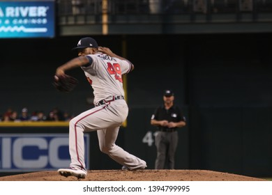 Julio Teherán Pitcher for the Atlanta Braves at Chase Field in Phoenix/USA May 10,2019.