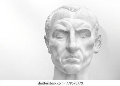 julius caesar Roman emperor plaster portrait