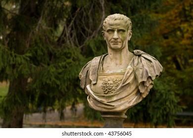 Julius Caesar statue in Warsaw park