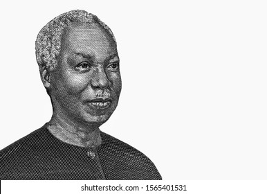 Julius Nyerere Portrait from Tanzania 1000 Shillings 2003 Banknotes. Tanzania money, Tanzania bank note. Closeup Collection.