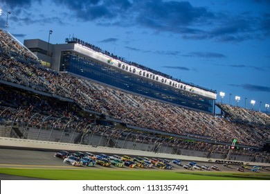 July 07, 2018 - Daytona Beach, Florida, USA: The NASCAR MENCS Series take to the track for the Coke Zero Sugar 400 at Daytona International Speedway in Daytona Beach, Florida.