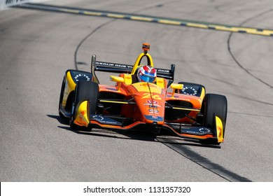 July 07, 2018 - Newton, Iowa, USA: ZACH VEACH (26) of the United Stated takes to the track to practice for the Iowa Corn 300 at Iowa Speedway in Newton, Iowa.
