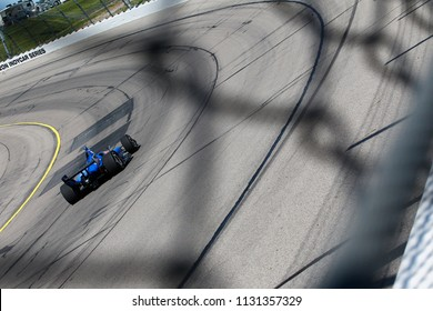July 07, 2018 - Newton, Iowa, USA: ED JONES (10) of the United Arab Emirates takes to the track to practice for the Iowa Corn 300 at Iowa Speedway in Newton, Iowa.