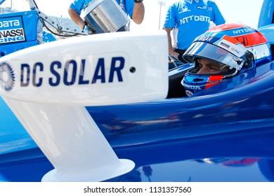 July 07, 2018 - Newton, Iowa, USA: ED JONES (10) of the United Arab Emirates prepares to qualify for the Iowa Corn 300 at Iowa Speedway in Newton, Iowa.