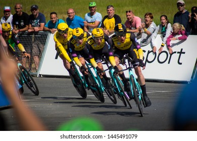 July 07, 2019 2nd day of the tour de france that day there was a team time trial on the agenda. This was won by jumbo lotto team.  this ride was in Brussels in Belgium