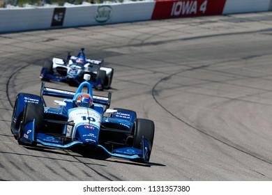 July 08, 2018 - Newton, Iowa, USA: ED JONES (10) of the United Arab Emirates battles for position during the Iowa Corn 300 at Iowa Speedway in Newton, Iowa.