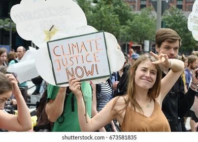 July, 08,2017 Hamburg, Germany Demonstration against G20 summit