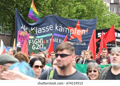 July, 08,2017 Hamburg, Germany, Peaceful Demonstration against G20 summit