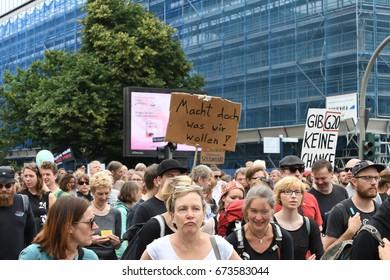 July, 08,2017 Hamburg, Germany Protests against G20 summit