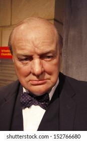 "JULY 10, 2008 - BERLIN: the wax figure of Winston Churchill  - official opening of the waxworks ""Madame Tussauds Berlin, Unter den Linden, Berlin."