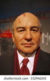 "JULY 10, 2008 - BERLIN: the wax figure of Michail Gorbachev - opening of the waxworks ""Madame Tussauds"", Unter den Linden, Berlin."