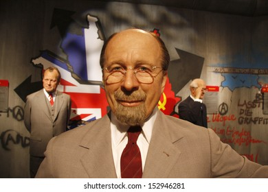 "JULY 10, 2008 - BERLIN: the wax figure of Walter Ulbricht  - opening of the waxworks ""Madame Tussauds"", Unter den Linden, Berlin."