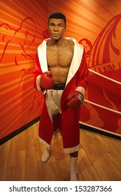 """JULY 10, 2008 - BERLIN: the wax figure of the boxing champion Muhammed Ali aka Cassius Clay - official opening of the waxworks """"Madame Tussauds Berlin"""", Unter den Linden, Berlin."""