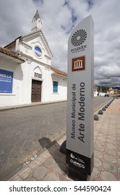July 10, 2016 Cuenca, Ecuador: historical building of the museum of modern history served as a prison in the past