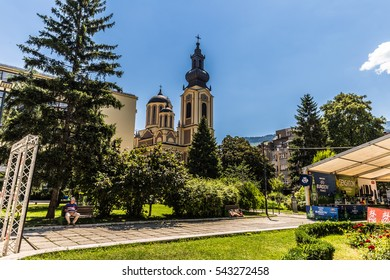 July 10, 2016: Serbian Orthodox Cathedral in the central square of Sarajevo, Bosnia and Herzegovina
