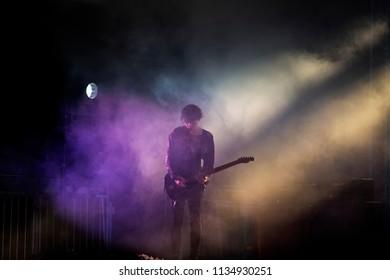 JULY 11, 2018: Scottish post rock band Mogwai at Castello Visconteo in Pavia, Italy for Iride Fraschini Festival