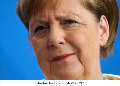 JULY 11, 2019 - BERLIN: Angela Merkel - meeting of the German Chancellor with the Denish Prime Minister, Federal Chanclery.