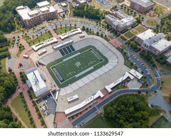 July 12, 2018 - Charlotte, North Carolina, USA: Aerial view of Jerry Richardson Stadium at the University of North Carolina at Charlotte.  Home of the UNCC 49ers