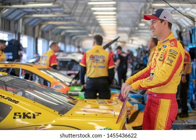 July 12, 2019 - Sparta, Kentucky, USA: Joey Logano (22) gets ready to practice for the Quaker State 400 at Kentucky Speedway in Sparta, Kentucky.