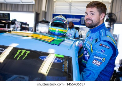 July 12, 2019 - Sparta, Kentucky, USA: Ricky Stenhouse, Jr (17) gets ready to practice for the Quaker State 400 at Kentucky Speedway in Sparta, Kentucky.