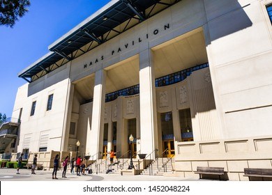 July 13, 2019 Berkeley / CA / USA - The Walter A. Haas Jr. Pavilion in the UC Berkeley campus is the home of the University of California Golden Bears basketball, volleyball, and  gymnastics teams