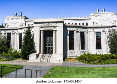 July 13, 2019 Berkeley / CA / USA - The Chan Shun auditorium in the Valley Life Sciences Building in the campus of UC Berkeley; the Museum of Paleontology (UCMP) is also located inside