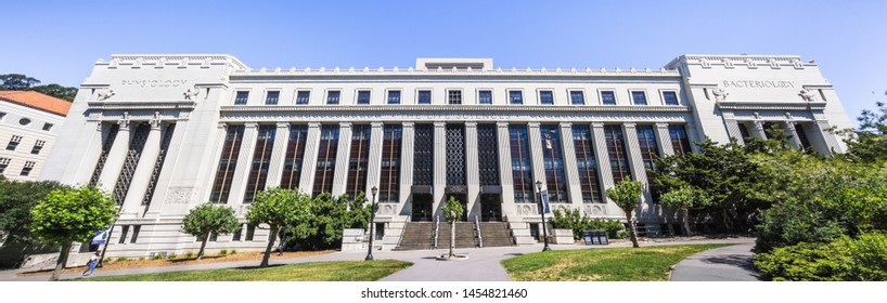 July 13, 2019 Berkeley / CA / USA - The Valley Life Sciences Building at UC Berkeley, the largest building on campus; the Museum of Paleontology (UCMP) is also located inside