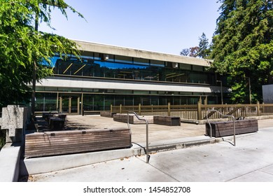 July 13, 2019 Berkeley / CA / USA - Moffitt Library in the UC Berkeley campus is one of the busiest libraries, serving students of all majors with long operating hours