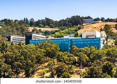 July 13, 2019 Berkeley / CA / USA - View towards Lawrence Berkeley National Laboratory (LBNL) at UC Berkeley is a US national lab that conducts scientific research on behalf of the Department Energy