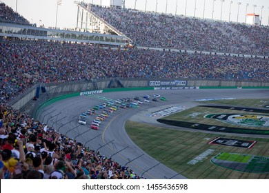 July 13, 2019 - Sparta, Kentucky, USA: The Monster Energy NASCAR Cup Series teams take to the track for the Quaker State 400 at Kentucky Speedway in Sparta, Kentucky.