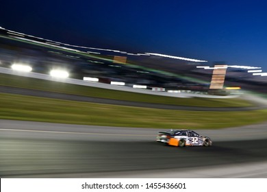 July 13, 2019 - Sparta, Kentucky, USA: Corey LaJoie (32) races through the turn during the Quaker State 400 at Kentucky Speedway in Sparta, Kentucky.