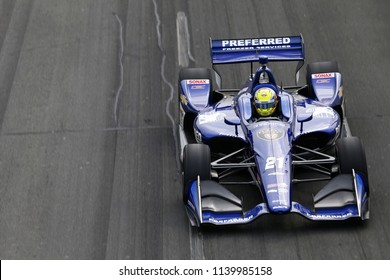 July 14, 2018 - Toronto, Ontario, CA: SPENCER PIGOT (21) of the United State takes to the track to practice for the Honda Indy Toronto at Streets of Toronto in Toronto, Ontario.