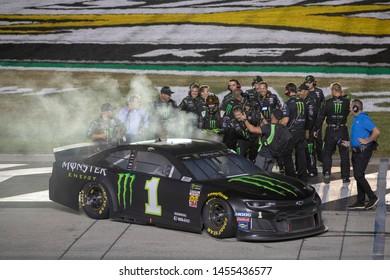 July 14, 2019 - Sparta, Kentucky, USA: Kurt Busch (1) wins the Quaker State 400 at Kentucky Speedway in Sparta, Kentucky.