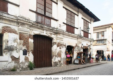 July 14, 2019-Ilocos Sur Philippines : Historic Town of Vigan. Vigan is a UNESCO World Heritage Site. In that it is one of the few Spanish colonial town. Vigan Philippines
