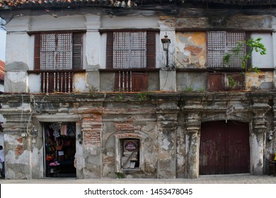 JULY 14, 2019-VIGAN PHILIPPINES : Ancient heritage houses that can be found in Vigan Philippines. Remnants from the spanish colony