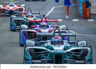 July 15 2017 - Formula E race in Brooklyn, New York. The first auto race in one of the five boroughs of New York.