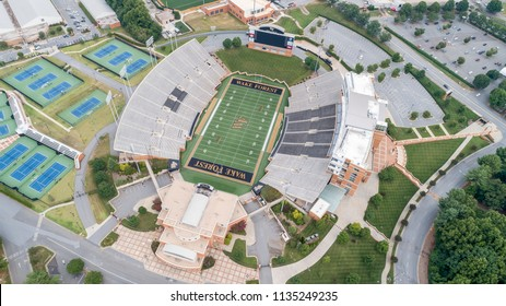 July 15, 2018 - Winston-Salem, North Carolina, USA: The Wake Forest Demon Deacons football team represents Wake Forest University in the sport of American football.