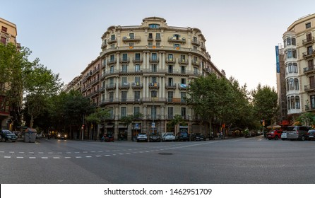 July 15 2019, Barcelona Spain: General Street and Building view From Barcelona Streets